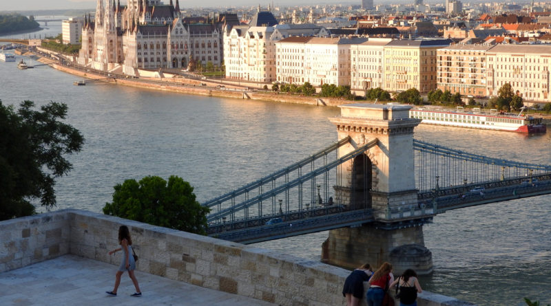 Chain Bridge with Parliament Budapest Danube